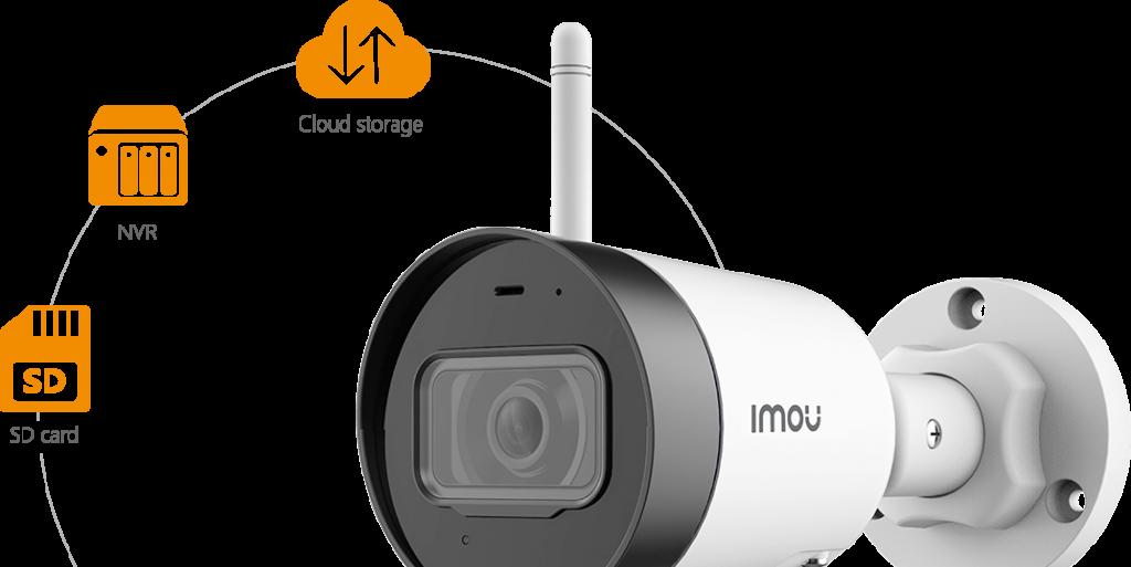 Сохранять и просматривать видео можно с помощью карты SD, цифрового видеорегистратора или облака.