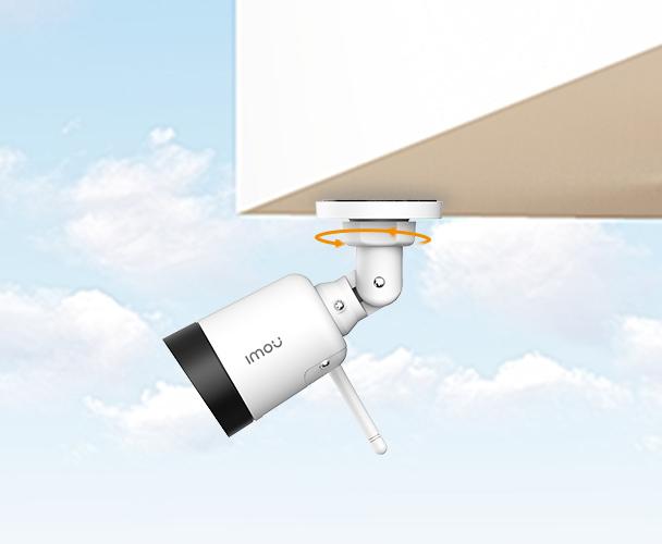 Вы можете установить камеру на потолок.